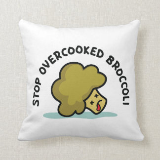 Stop Overcooked Broccoli Cushion