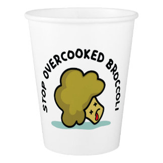 Stop Overcooked Broccoli Paper Cup