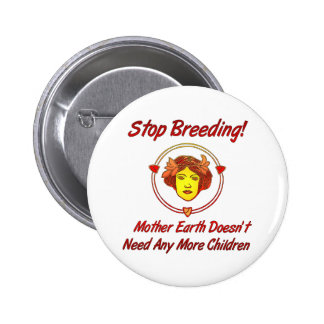 Stop Overpopulation 6 Cm Round Badge