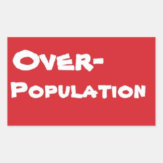 STOP Overpopulation Stop Sign Sticker