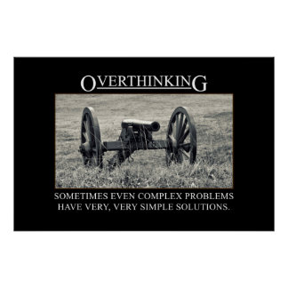 Stop overthinking the solutions to problems [XL] Poster
