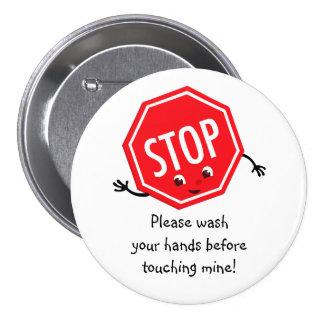 Stop Please Wash Button