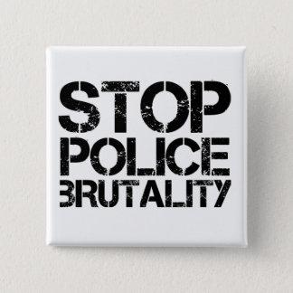 Stop Police Brutality 15 Cm Square Badge