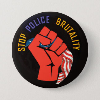 Stop Police Brutality 7.5 Cm Round Badge