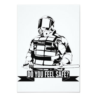 Stop Police Brutality Art for Occupy Movements 13 Cm X 18 Cm Invitation Card