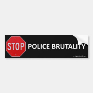 stop police brutality bumper sticker