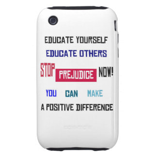 Stop Prejudice iPhone 3G Case Tough iPhone 3 Covers
