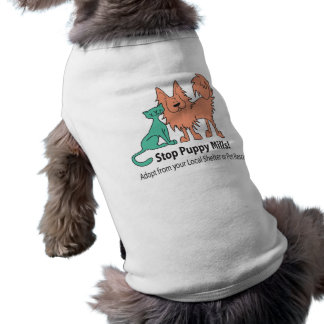 stop puppy mill logo dog T Shirt