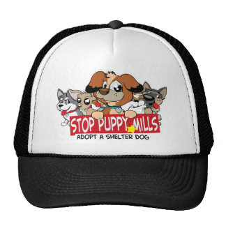 STOP Puppy Mills: Adopt A Shelter Dog Trucker Hats
