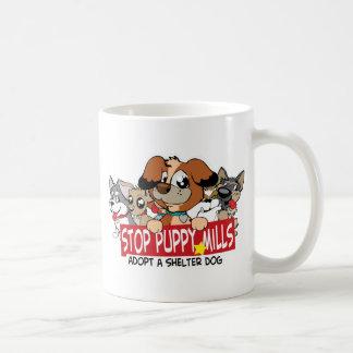 STOP Puppy Mills: Adopt A Shelter Dog Mugs