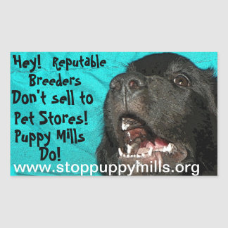 Stop Puppy Mills Magnet Rectangular Sticker