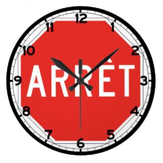 Stop, Quebec, Traffic Sign, Canada Clock