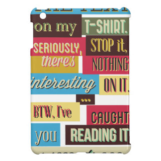 stop reading the texts, cool fresh design cover for the iPad mini