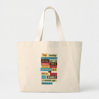stop reading the texts, cool fresh design large tote bag