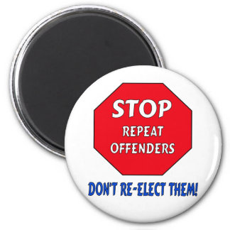 Stop Repeat Offenders 6 Cm Round Magnet