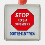 Stop Repeat Offenders Christmas Ornaments