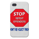 Stop Repeat Offenders iPhone 4 Cover