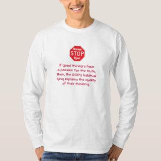 Stop Romney & Ryan - Habitual Liars T-Shirt