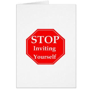 Stop Rudeness #2 Greeting Card