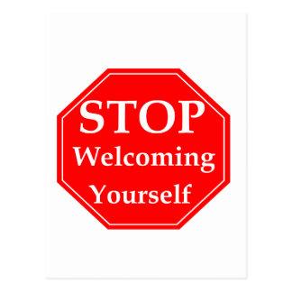 Stop Rudeness Postcard