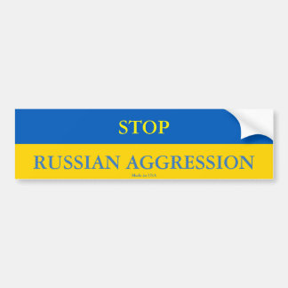 Stop Russian Aggression Bumper Sticker