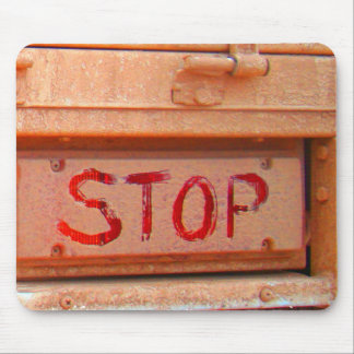 Stop rustic ute tailgate tail light mouse pad