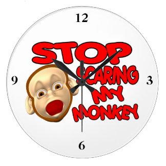 Stop Scaring My Monkey Wall Clock