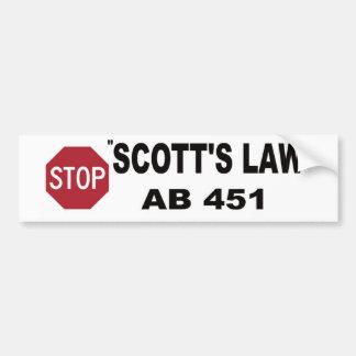 STOP SCOTT'S LAW BUMPER STICKER