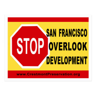 STOP SF Overlook Development Postcard