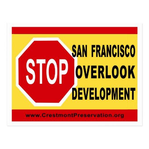 STOP SF Overlook Development Postcards