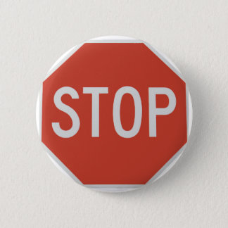 Stop sign 6 cm round badge