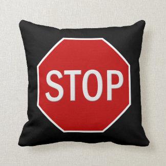 Stop sign cartoon throw pillow
