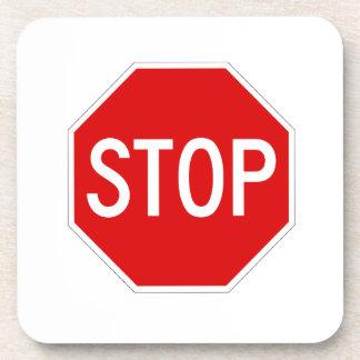 Stop sign coaster