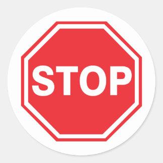 Stop Sign Decal Round Sticker