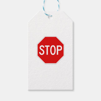 Stop sign gift tags