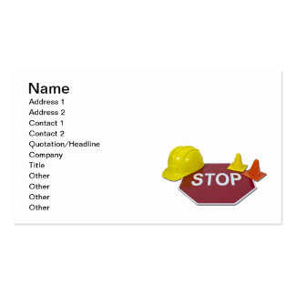 Stop Sign Hard Hat Pack Of Standard Business Cards