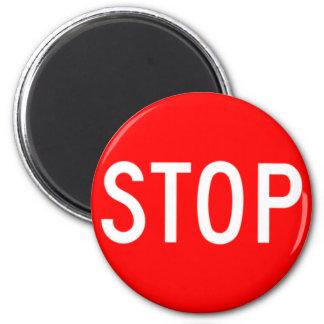 Stop Sign - Highway Hexagon Magnet