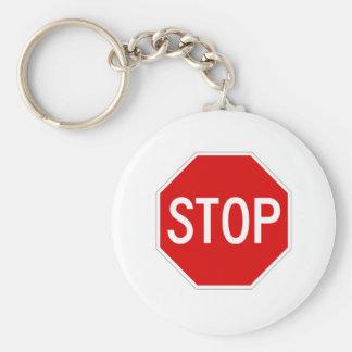 Stop sign key ring