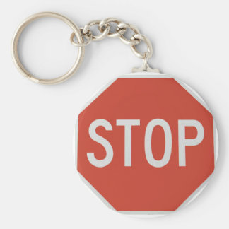 Stop sign key ring