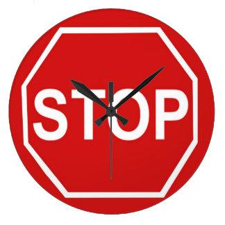 Stop Sign Large Clock