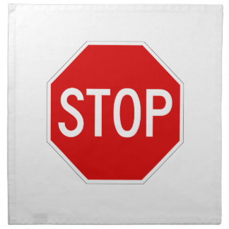 Stop sign napkin