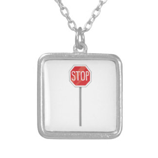 Stop Sign Personalized Necklace
