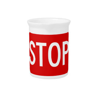 Stop sign pitcher