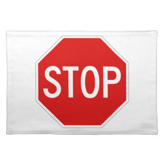 Stop sign placemat