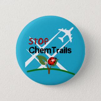Stop Sign Plane Aerosol Trails LadyBug 6 Cm Round Badge