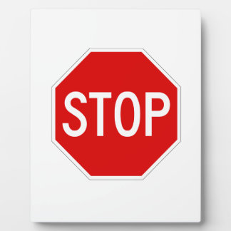 Stop sign plaque