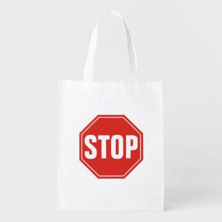 STOP Sign Reusable Grocery Bag
