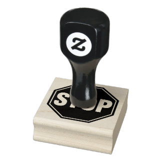 STOP Sign Rubber Stamp
