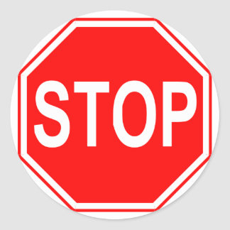 Stop Sign stickers