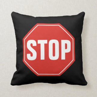 STOP Sign Throw Pillow